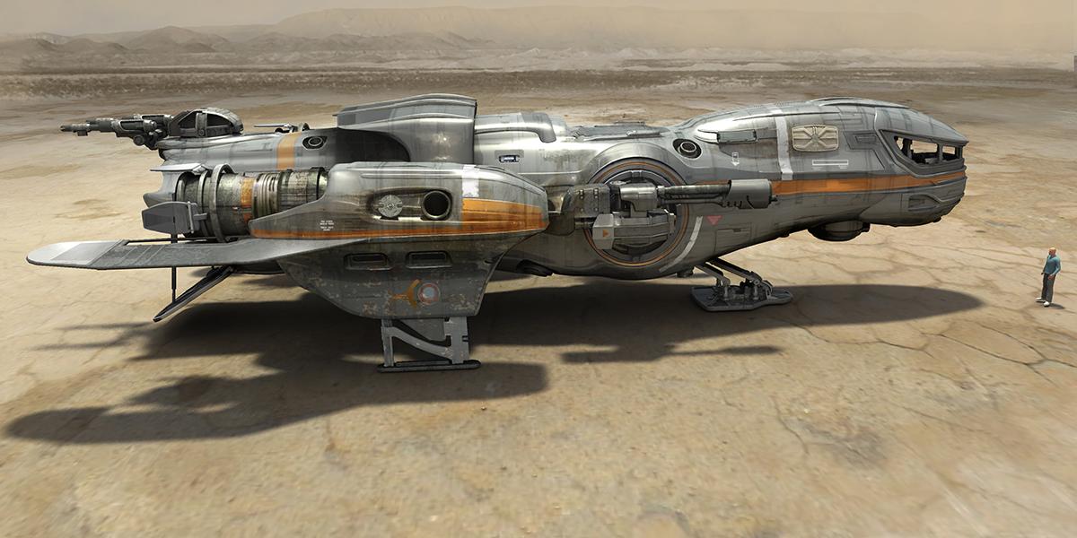 spaceship desert landing