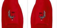 T Shirt 2 Recht   Links Rot